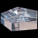 Crystal Pentagon Paperweight Paper Weight Crystal Awards
