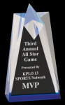 Sculpted Star Acrylic  Patriotic Awards