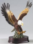 Eagle In Flight On Wood Base Patriotic Awards