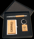 Maple Finish Gift Set Pens and Pencils