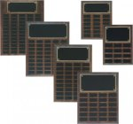 Step Edge Genuine Walnut Perpetual Plaque Perpetual Plaques