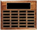 Solid Walnut High Gloss Perpetual Plaque Perpetual Plaques