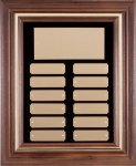 Walnut Frame Corporate Plaque Perpetual Plaques