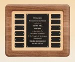 American Walnut Frame Perpetual Plaque Perpetual Plaques