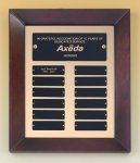 Cherry Finish Wood Frame Perpetual Plaque Perpetual Plaques