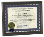 Bull Nose Edge Certificate Frame Photo & Certificate Plaques
