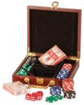 Rosewood Piano Finish Poker Set Poker Trophy Awards