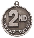 High Relief 2nd Place Medal Poker Trophy Awards