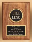 American Walnut Plaque with Routed Disk Area Recognition Plaques