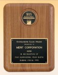 American Walnut Plaque with Medallion Recognition Plaques
