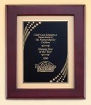 Rosewood Piano Finish Frame with Brass Plate Recognition Plaques