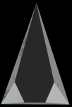 Crystal Facet Triangle Sales Awards