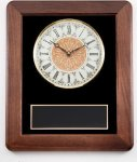 Walnut Wall Clock Plaque Sales Awards