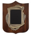 Walnut Cast Corporate Shield Plaque Sales Awards