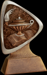 Triad Lamp of Knowledge Resin Scholastic Trophy Awards