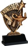 Lamp of Knowledge Broadcast Resin Scholastic Trophy Awards