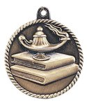 High Relief Lamp of Knowledge Medal Scholastic Trophy Awards