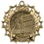 Math Ten Star Medal Scholastic Trophy Awards