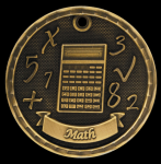 3-D Math Medal Scholastic Trophy Awards