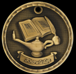 3-D Lamp of Knowledge Scholastic Trophy Awards