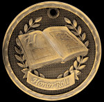 3-D Honor Roll Medal Scholastic Trophy Awards