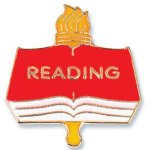 Reading Lapel Pin Scholastic Trophy Awards