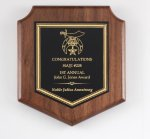 Walnut Corporate Shield Plaque Shield Plaques