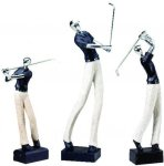 Golfer, Male Silver Metallic Award Signature Black Resin Trophy Awards