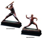 Baseball Action Pose Bronze Resin Signature Black Resin Trophy Awards