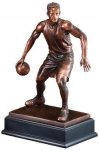 Basketball Action Pose Resin Signature Black Resin Trophy Awards