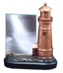 Resin Light House With Glass Signature Black Resin Trophy Awards
