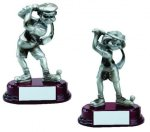 Comic Golfer Signature Rosewood Resin Trophy Awards