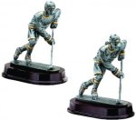 Ice Hockey Forward Resin Figure Signature Rosewood Resin Trophy Awards
