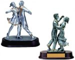 Dance Couple Signature Rosewood Resin Trophy Awards