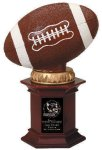 Football On Base Signature Rosewood Resin Trophy Awards
