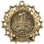 1st Place Ten Star Medal Skiing Trophy Awards