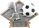 Soccer Diamond Plate Resin  Soccer Trophy Awards