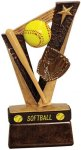 Softball Trophy Band Resin Softball Awards