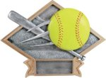Softball Diamond Plate Resin  Softball Awards