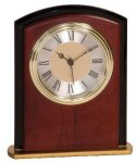Mahogany Finish Square Arch Clock Award Solid Wood Clocks