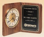 American Walnut Book Clock Solid Wood Clocks
