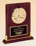 Desk Rosewood Piano Finish Clock Solid Wood Clocks