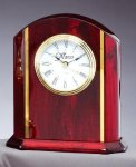 Desk Clock With Plate Solid Wood Clocks