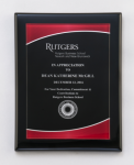 Black Piano Finish Plaque with Red Acrylic Plate Square Rectangle Awards