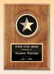 American Walnut Star Plaque Star Plaques