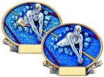3D Oval Swimming Swimming Trophy Awards