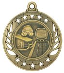 Swimming Galaxy Medal Swimming Trophy Awards