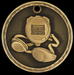 3-D Swimming Medal Swimming Trophy Awards