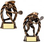 Bronze and Gold Tennis Tennis Trophy Awards