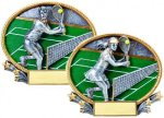 3D Oval Tennis Tennis Trophy Awards